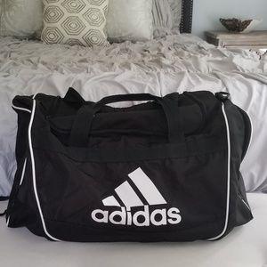 Adidas Large Duffle Bag Black and White
